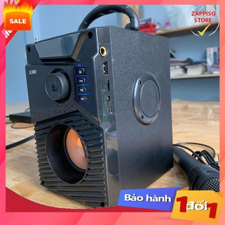 . Loa Công Suất Lớn, Loa A300 Hozito Cao Cấp Version 2020 + TẶNG MIC HÁT, Loa Hat Karaoke Bluetooth Cầm Tay -Kèm Bóp xốp