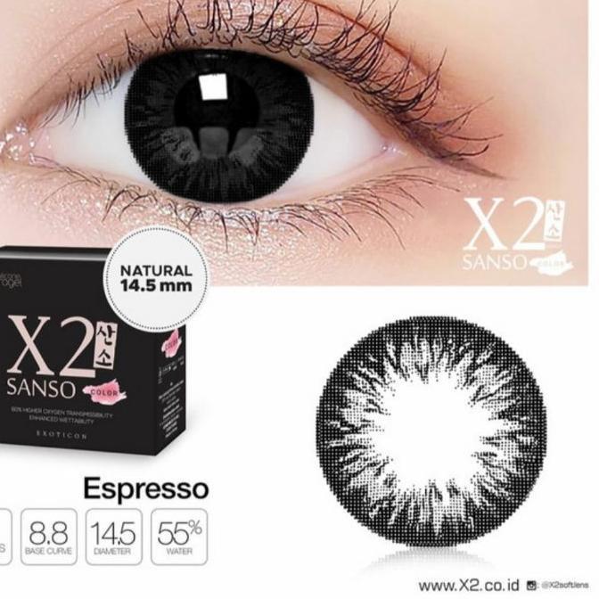 X softlens X2 Sanso đen mềm mại dòng màu / đen X2 Sanso / Sanso Bigeyes Sanso / X2 Sans