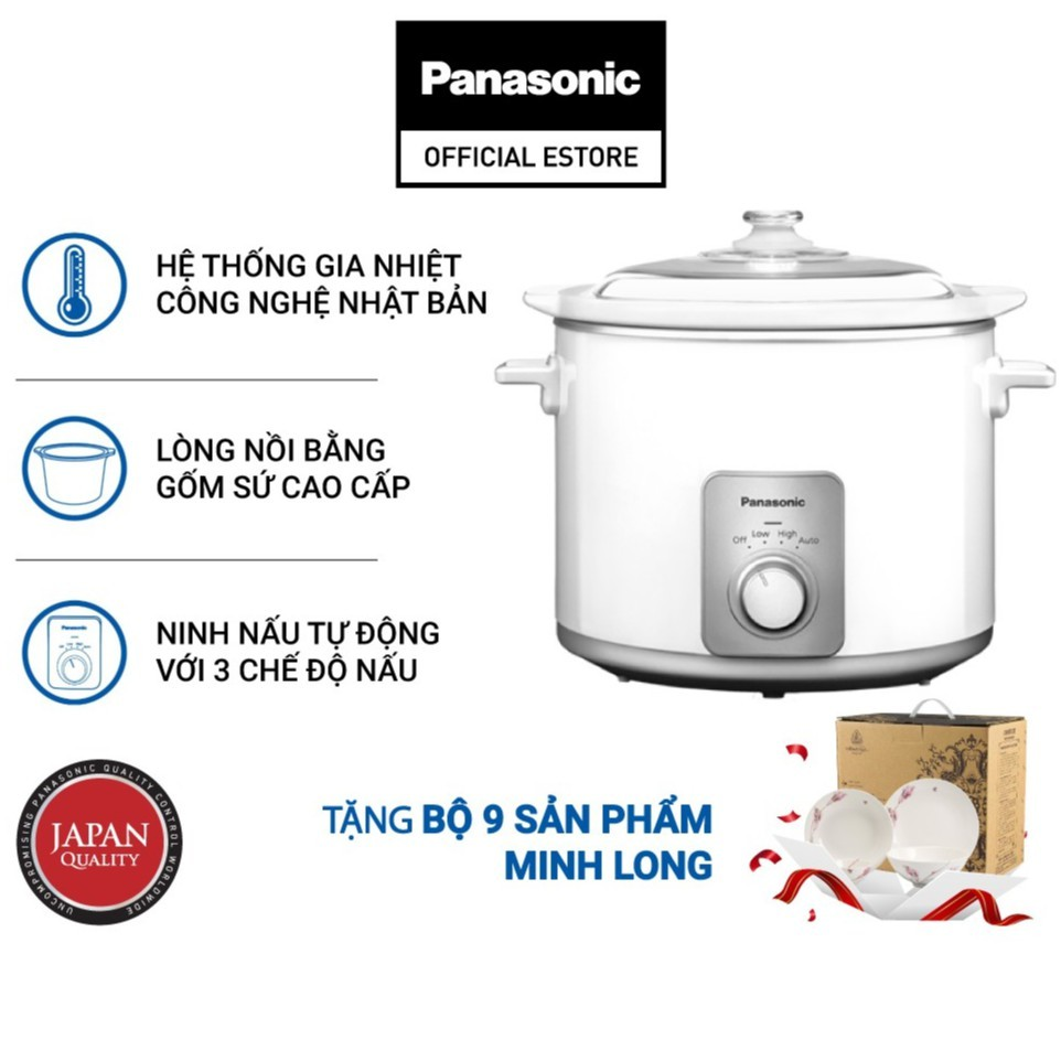 Nồi nấu chậm Panasonic NF-N50ASRA (5 Lít) - Hàng chính hãng - Bảo hành 12 tháng