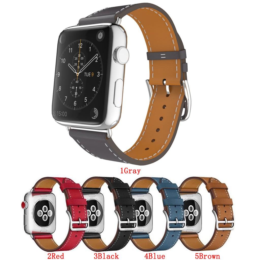 Dây đeo Apple Watch 38(40)mm 42(44)mm Leather iWatch Series 4/3/2/1 (Chỉ có dây đeo, không có Apple Watch)