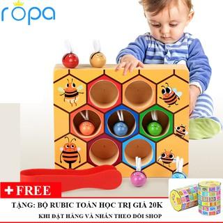 Đồ chơi gỗ, Bộ đồ chơi gắp ong về tổ cho bé vui chơi