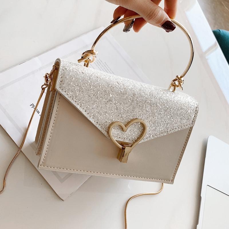 [ẢNH THẬT] Túi xách nữ khóa trái tim cách điệu siêu sang - T1008