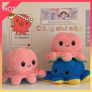 Giải tỏa 40CM 30CM 20CM Reversible Octopus- chất lượng cao Bạch tuộc nhồi bông cảm xúc Bạch Tuộc Đồ Chơi Nhồi Bông 40cm 30cm 10cm yjteam66.vn thumbnail