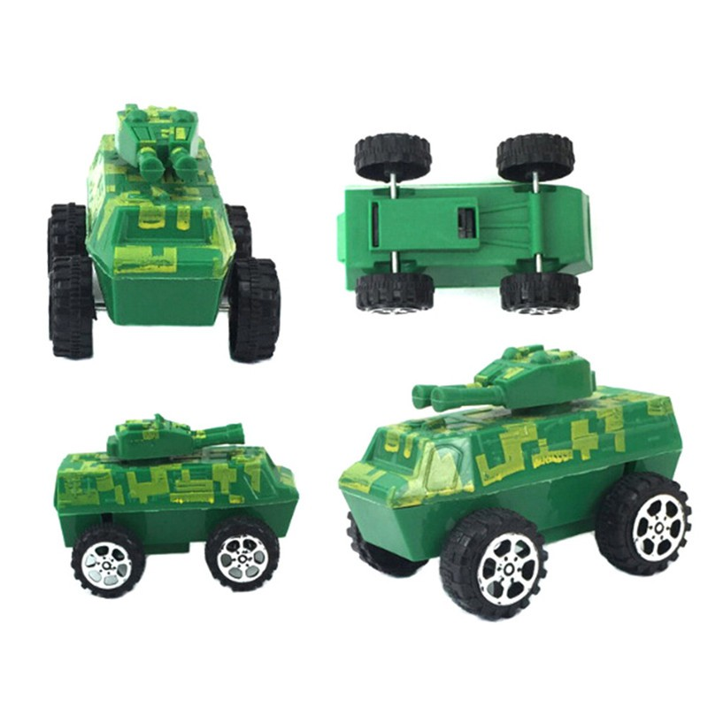 LOVEU* Plastic Army Green Tank Model Miniature Toy Hobbies Kids Educational Gift
