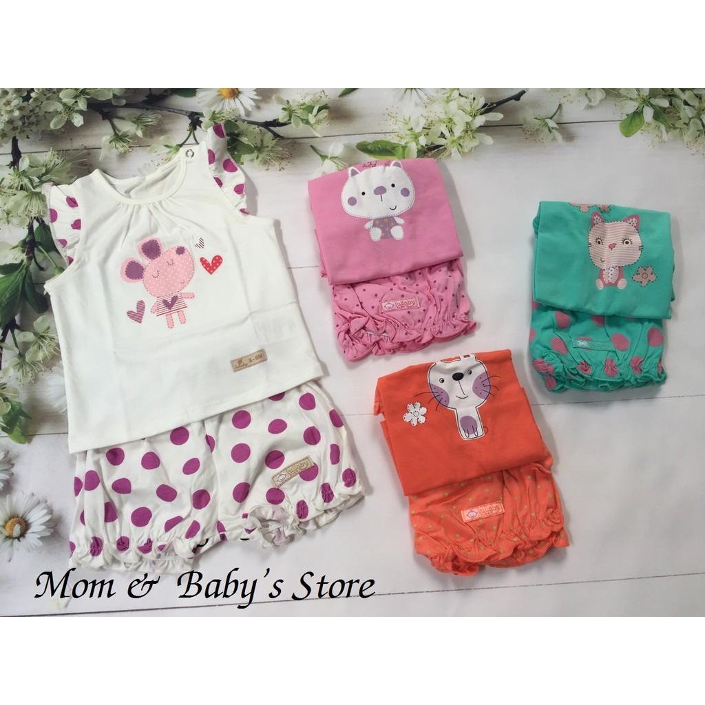 Bộ tay bèo quần đùi bèo gấu bé gái Lullaby - 3322474 , 855446966 , 322_855446966 , 89000 , Bo-tay-beo-quan-dui-beo-gau-be-gai-Lullaby-322_855446966 , shopee.vn , Bộ tay bèo quần đùi bèo gấu bé gái Lullaby