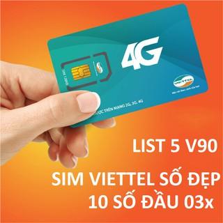 Sim số đẹp V90 Viettel 11 số nguyên kit gói sắp đổi sang 10 số (List5)