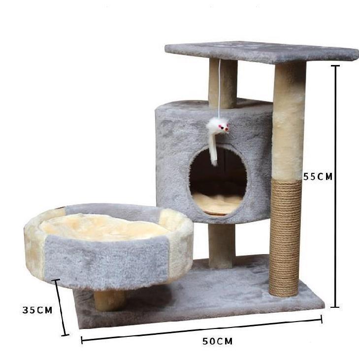 [Mã 267FMCGSALE giảm 8% đơn 500K] Cattree nhà mèo 3 tầng - Nhà cây cho mèo (Hàng có sẵn)