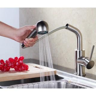 Vòi rửa chén Vòi rửa bát nóng lạnh dây rút INOX 304 LANKA