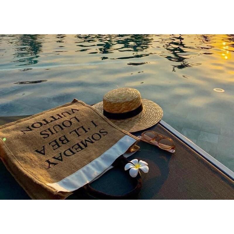 Túi cói đi biển someday (loại 1)