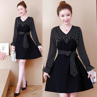 【Quảng Châu Big Size】 Đầm xòe big size quảng châu D1059 (QC Chính góc)