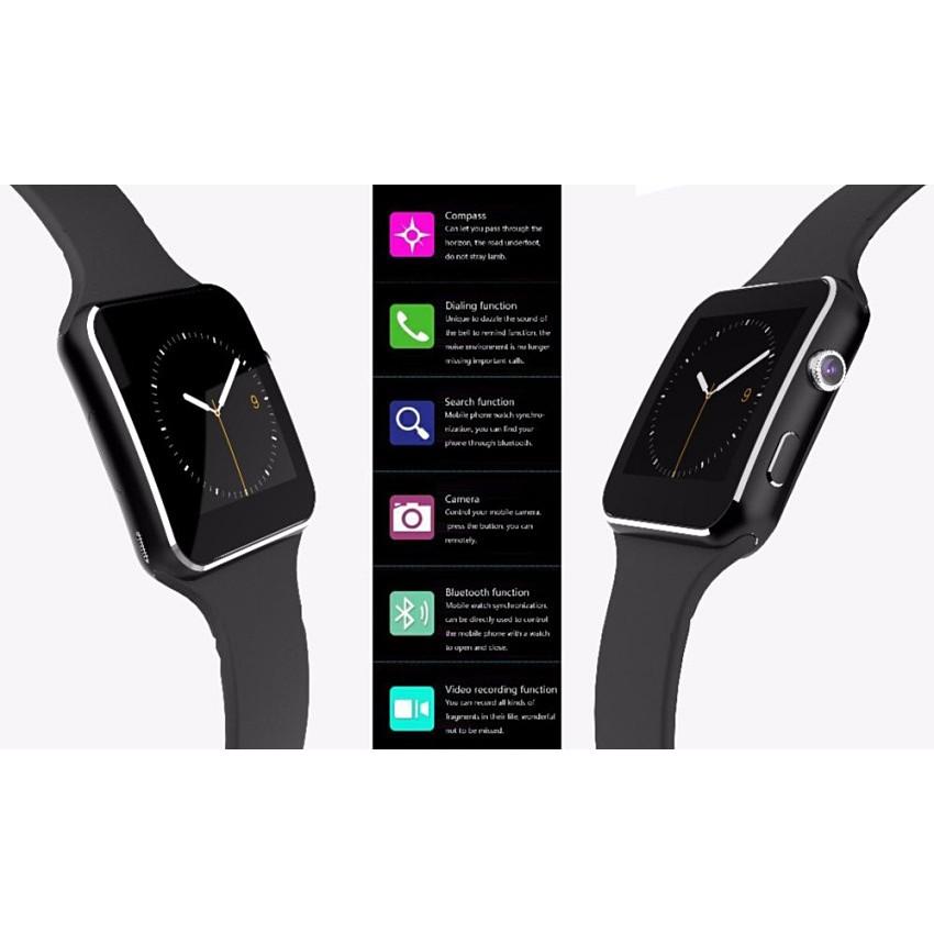Đồng hồ thông minh X6 màn hình cong Cao cấp đen - 3593328 , 1023692108 , 322_1023692108 , 399000 , Dong-ho-thong-minh-X6-man-hinh-cong-Cao-cap-den-322_1023692108 , shopee.vn , Đồng hồ thông minh X6 màn hình cong Cao cấp đen