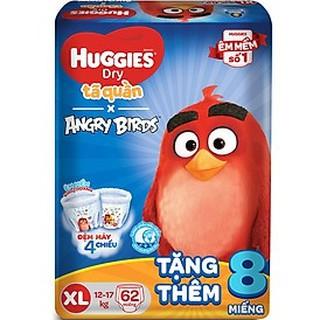 Tã quần Huggies XL62 mẫu mới