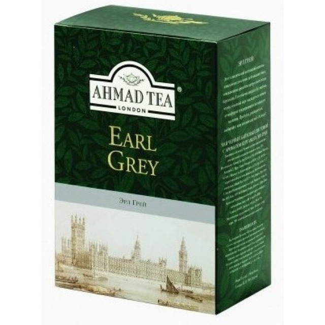"""Trà """"Bá Tước Anh Quốc"""" pha ấm hộp giấy 100g - Ahmad Earl Grey Tea 100g"""