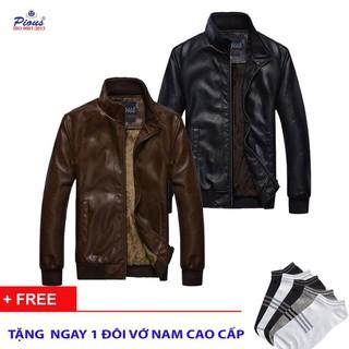 [THỜI TRANG NAM] Áo Khoác Da Nam Lót Lông Cao Cấp HCM AD77 ( nâu, đen)
