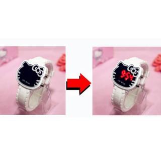 Đồng hồ điện tử mặt hình Hello Kitty cho bé