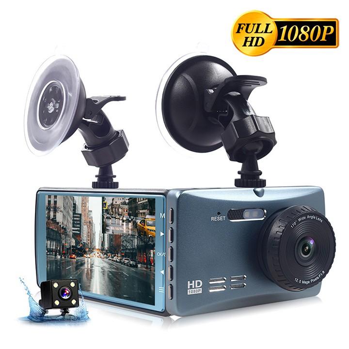 [ Tặng thẻ 0GB-32GB ] Camera hành trình ô tô trước sau Full HD 1080P mẫu mới, ống kính kép siêu bền