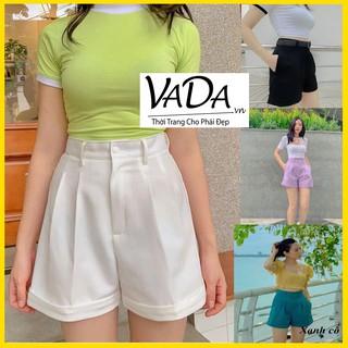 Quần sọc nữ lưng đùi bằng vải cao cấp, thấm hút mồ hôi, mặc thoải mái không kén tuổi, HOT TREND 2020 VADA.vn - Q0011 thumbnail
