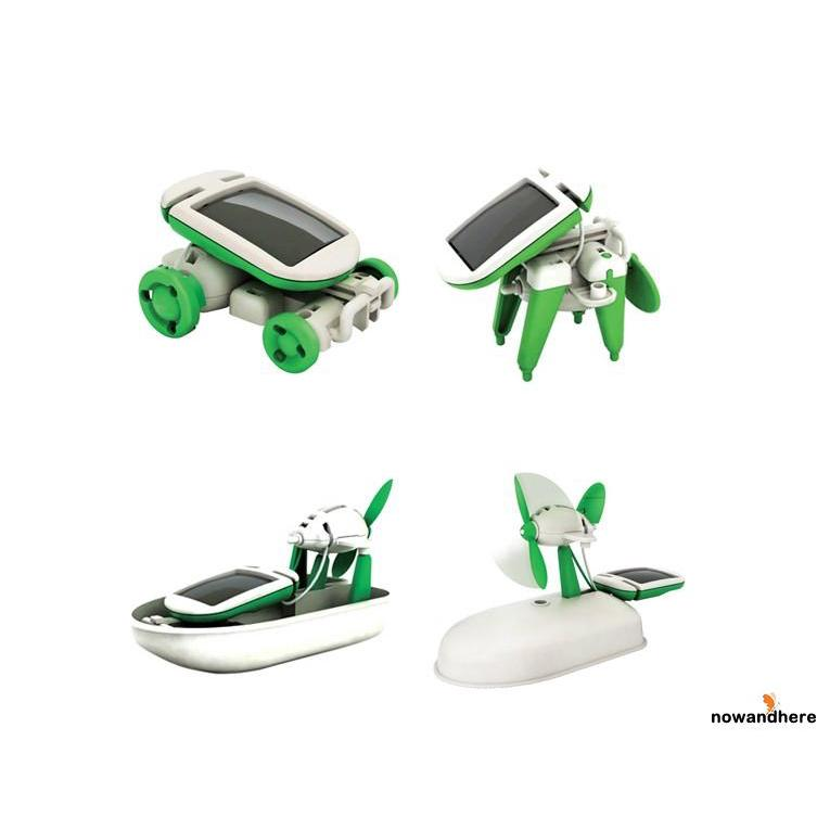 VDH-6 in 1 Creative DIY Education Learning Power Solar Robot Kit Children Toys