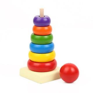 Đồ chơi tháp xếp chồng bằng gỗ 11115