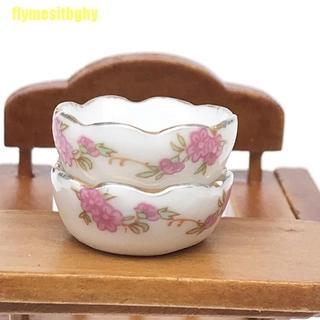 【GHY】1:12 Miniature Furniture Vintage Dessert plate DIY Miniatures For Dollhouses