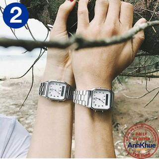 Đồng hồ unisex dây kim loại Casio Standard chính hãng Anh Khuê AQ-230 Series