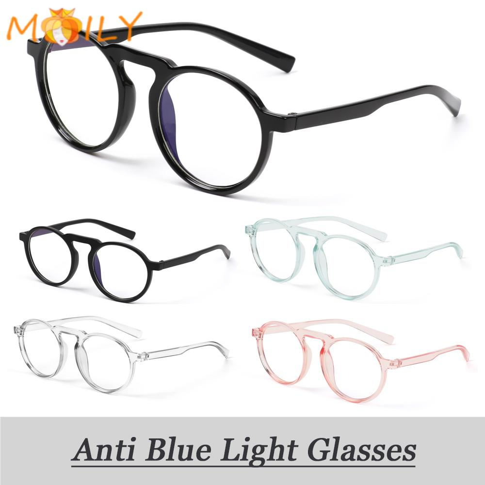 MOILY Round Frame Anti Blue Ray Glasses Ultralight Resin Lens Women Radiation Protection Spectacle