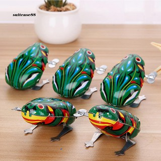 STCS♥Kids Classic Wind Up Clockwork Toy Jumping Frog Children Boys Educational