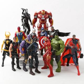 Marvel Avengers 3 Infinite War Movie Anime Super Hero Iron Man Spider-Man Green Giant Nhân vật hành động Đồ chơi