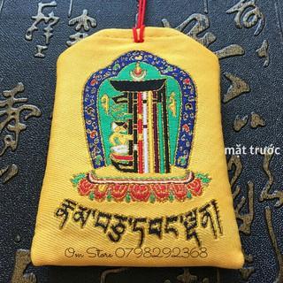 Túi phước thêu biểu tượng Kalachakra (kim cang thời luân) Nepal