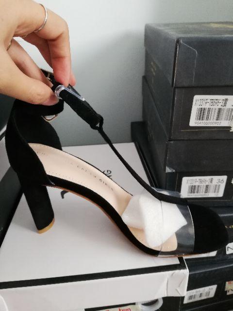 Sandal gót thanh, quai ngang - Quảng Châu- Full box SC10 ( Hình+ Clip Thật)