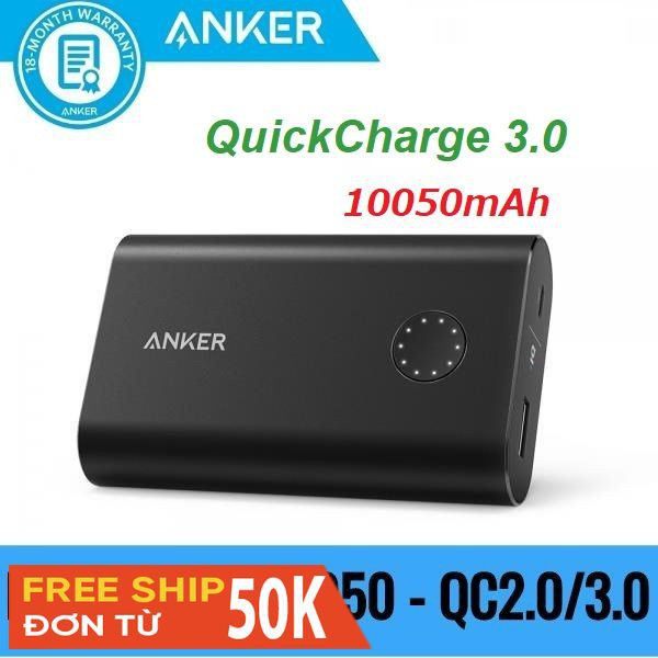Pin dự phòng Anker Quick Charge 3.0 PowerCore+ 10050 - A1311 (Used)