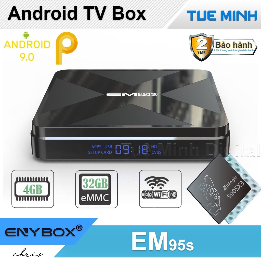 Android TV Box EM95s - Amlogic S905X3, 4GB Ram, 32GB bộ nhớ trong, Android 9
