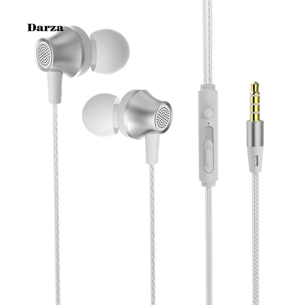 Tai nghe bass nhét tai có dây kèm mic cho điện thoại , máy tính