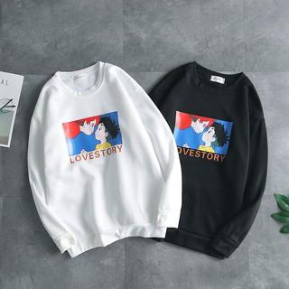 Áo Sweater Tay Dài Dáng Rộng Trẻ Trung Cá Tính Cho Nam Kiểu Hàn Quốc 2019