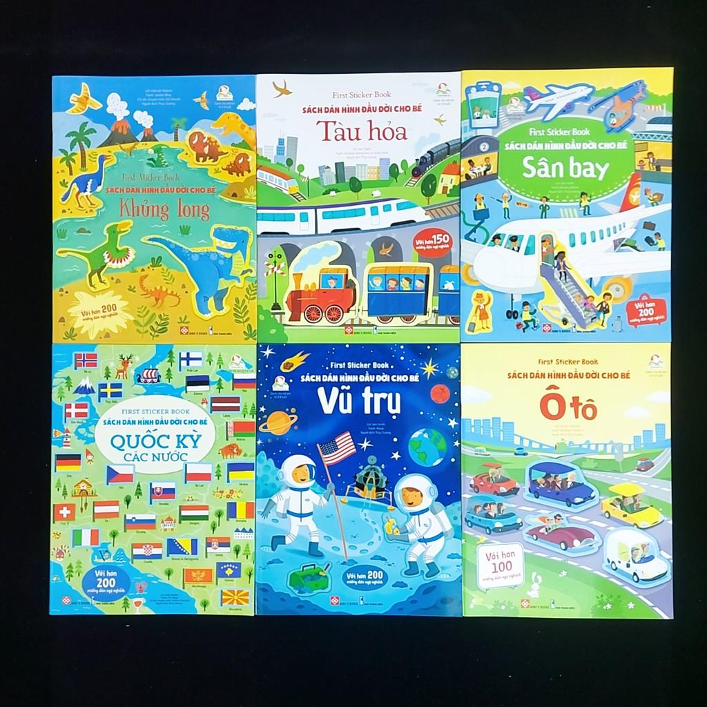 Sách - Sách dán hình đầu đời cho bé 6 cuốn (dành cho bé 3-8 tuổi)
