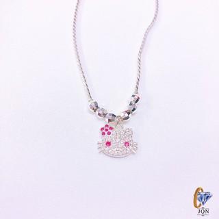 Dây chuyền bạc cho bé gái mặt kitty cực xinh ms2 Trang sức bạc JQN thumbnail