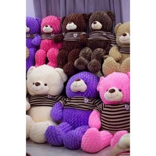 Gấu teddy áo len cao cấp khổ vải 1m2, size 1m
