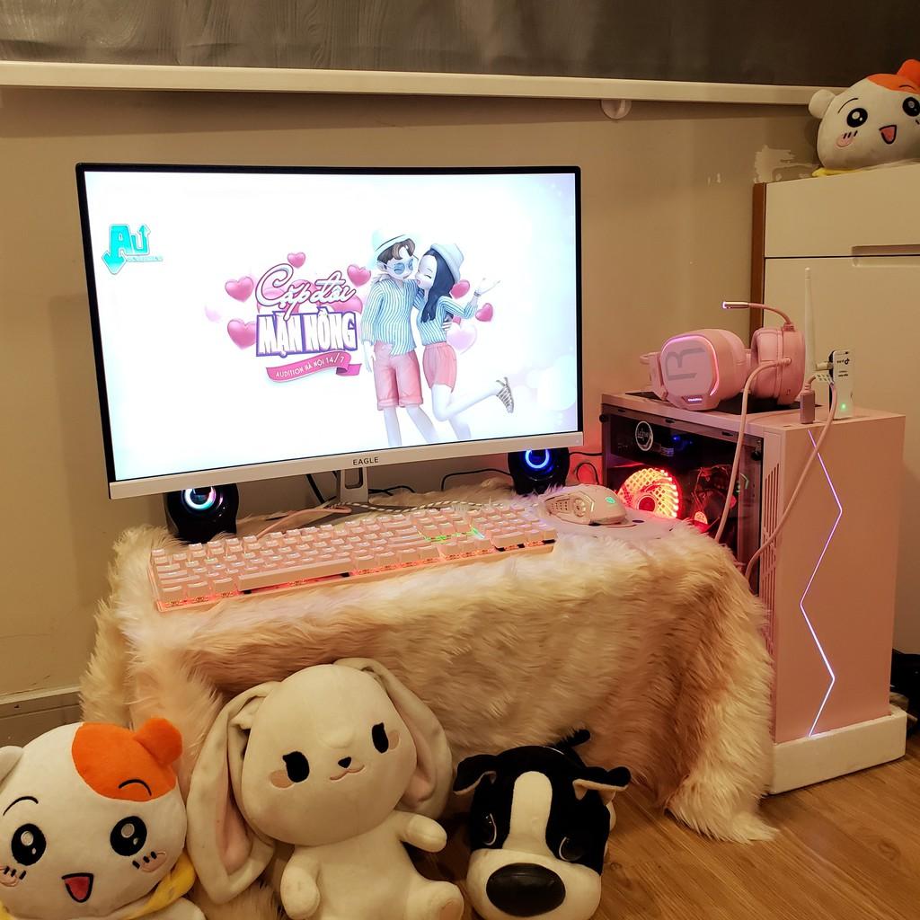 [ĐẶC BIỆT] Bộ máy tính để bàn văn phòng và gaming màu hồng Pink