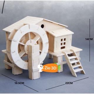 Đồ chơi lắp ráp gỗ 3D Mô hình Cối xay nước