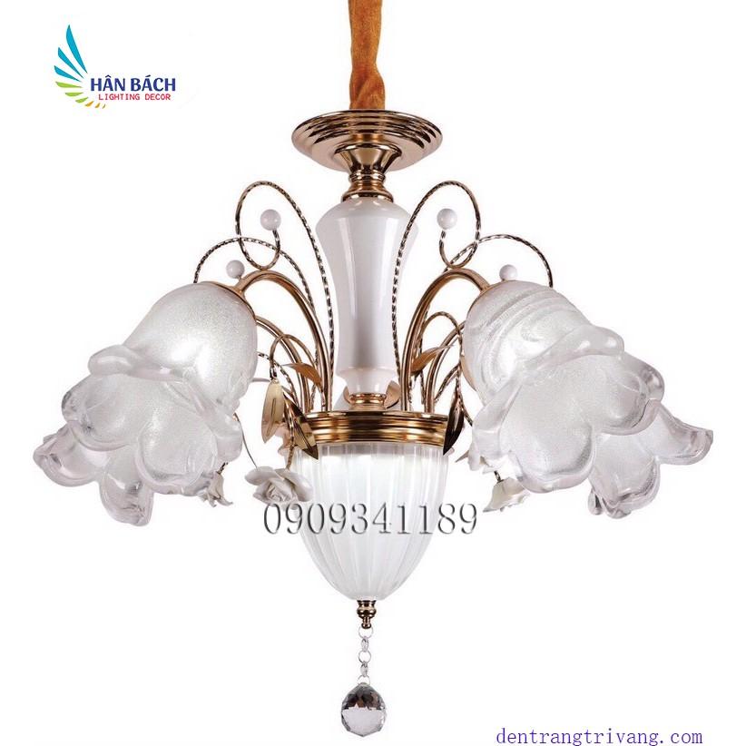 Đèn chùm,đèn gắn trần trang trí phòng khách,salon,khách sạn hiện đại - Tặng kèm bóng LED