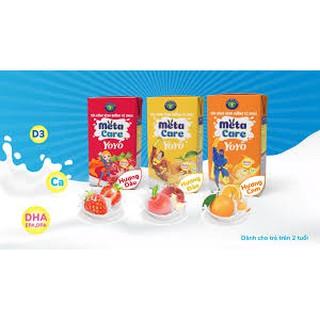 Thùng sữa uống dinh dưỡng vị chua Nutricare Metacare Yoyo Hương Cam (110ml x 48 hộp) du vi
