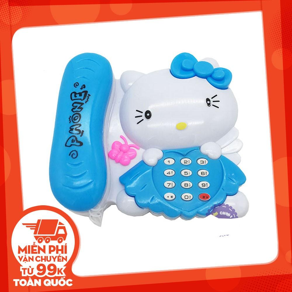 [FREESHIP TỪ 99K]Đồ chơi điện thoại bàn mèo Kitty dùng pin có đèn nhạc