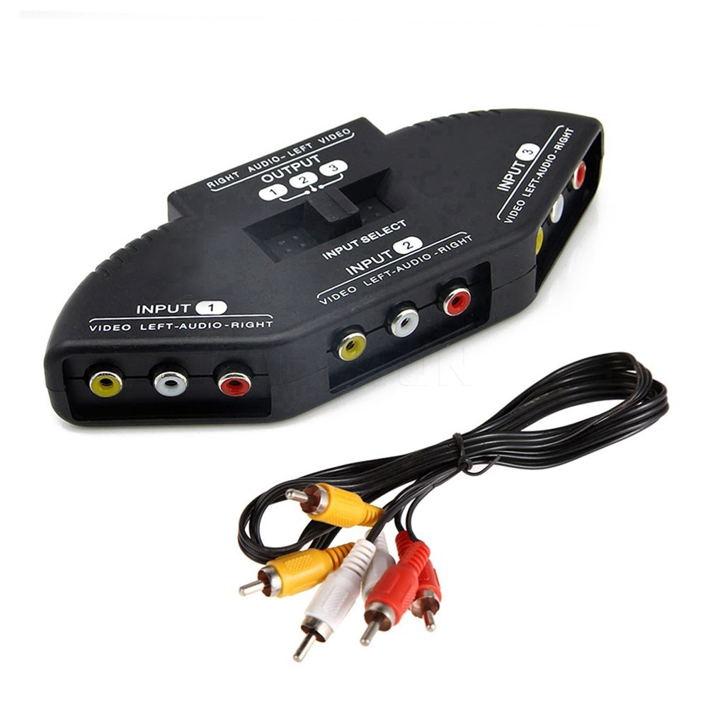 3 Ports Audio Video Switcher cabel AV RCA for XBOX PS Giá chỉ 69.800₫