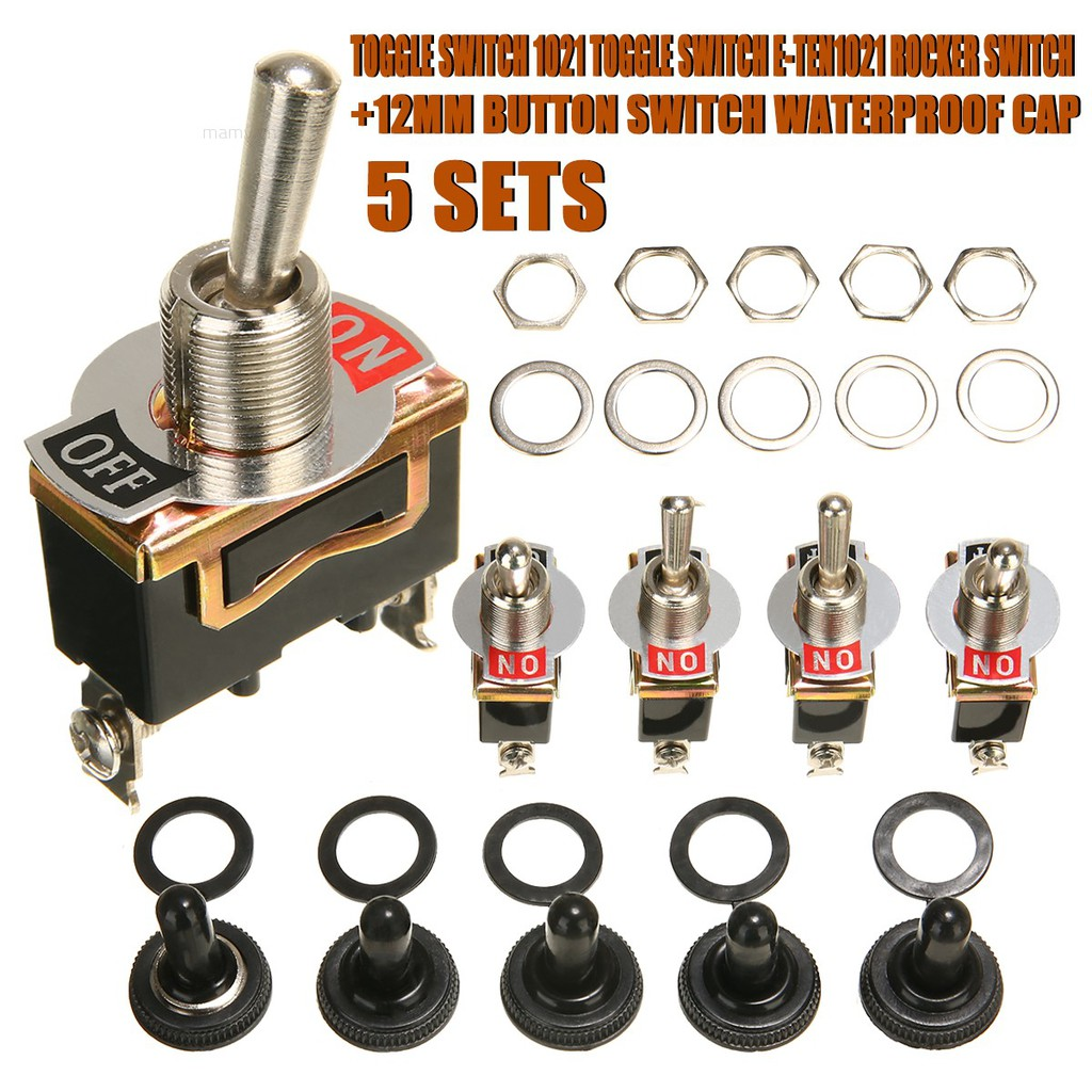 10pcs Toggle Switch Heavy Duty 20A 125V SPST 2 Terminal ON//OFF for Car Boat ATV