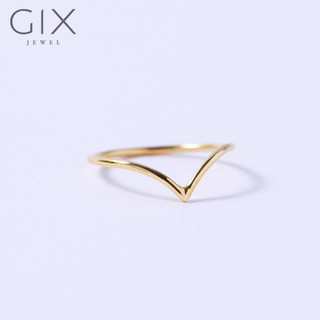 Nhẫn trơn mặt chữ V sang trọng Gix Jewel SPGN105 thumbnail