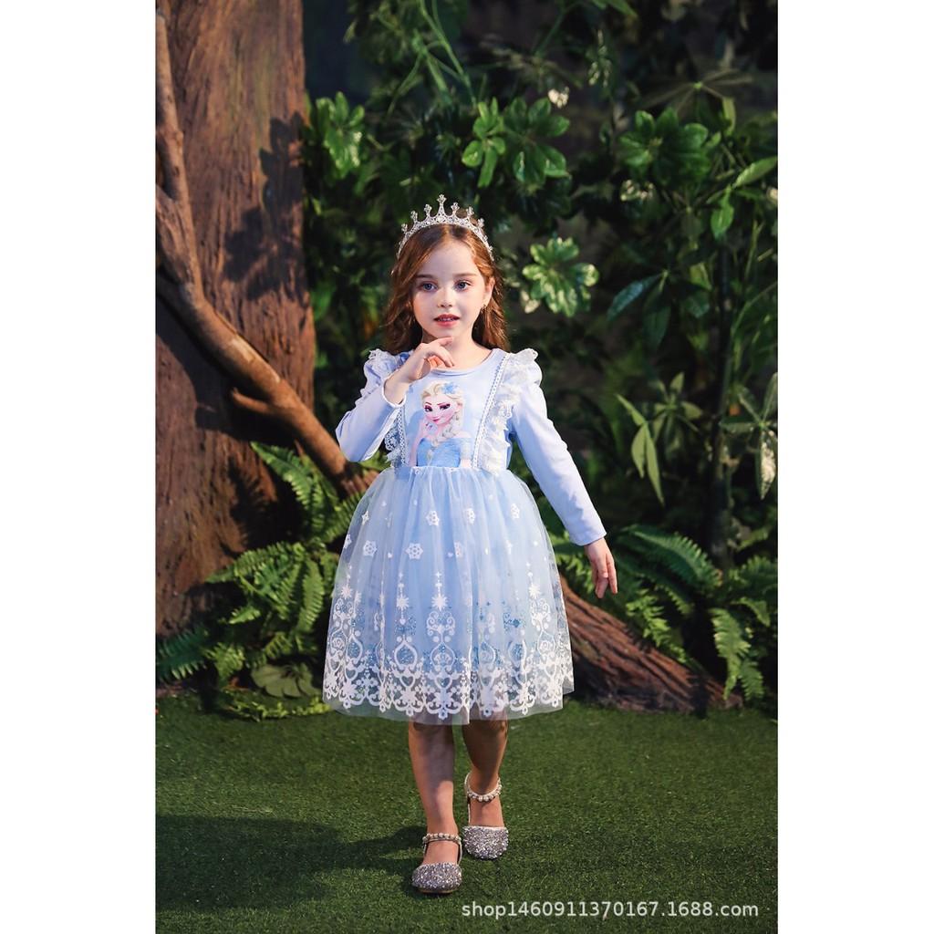 J245 Đầm công chúa elsa mới 2020