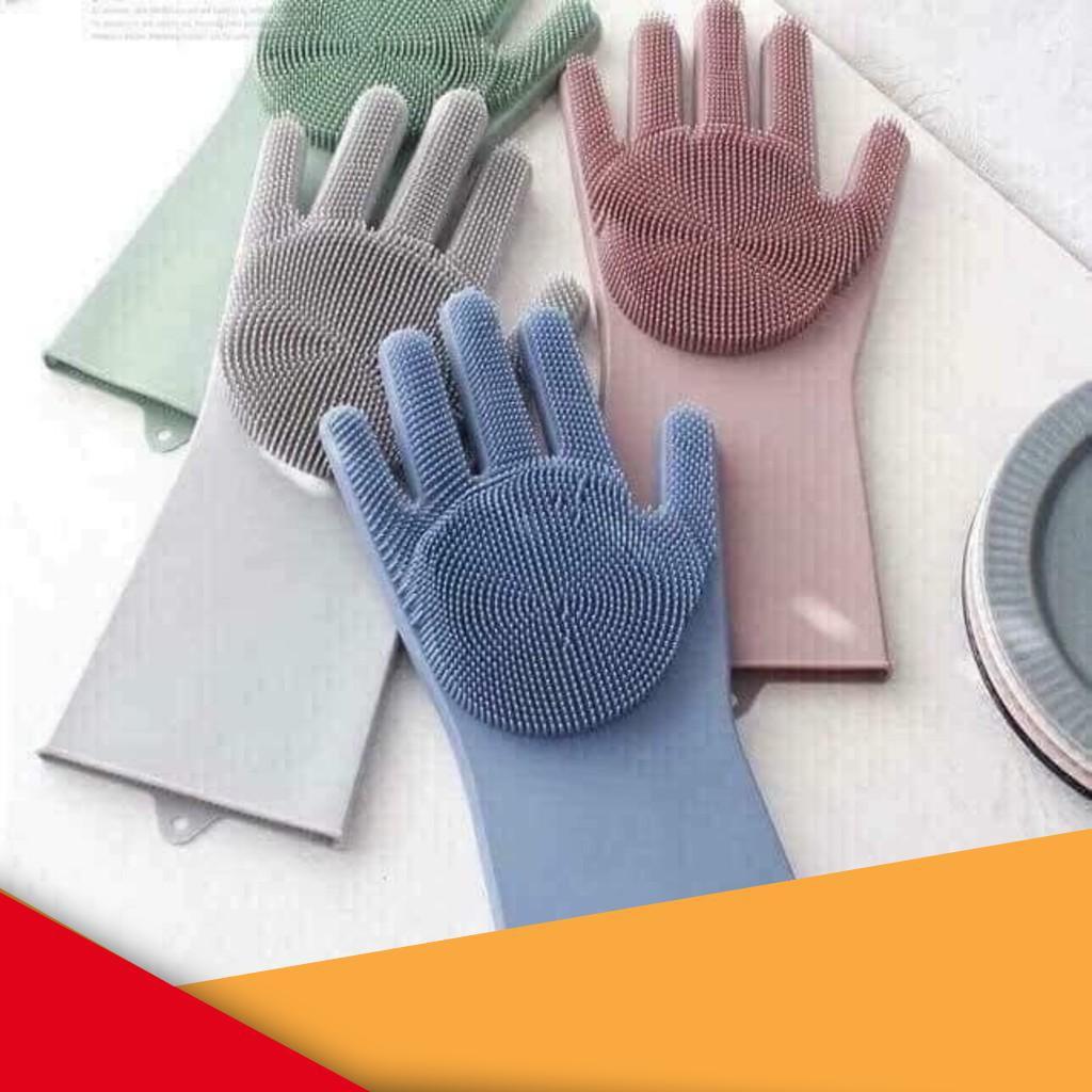 [FLASH SALE]  Găng tay cao su 2in1 đa năng (silicon)
