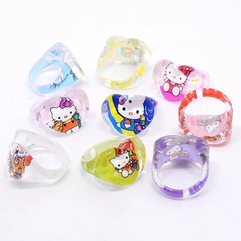 Nhẫn nhựa đúc cho bé gái 0 - 6 tuổi