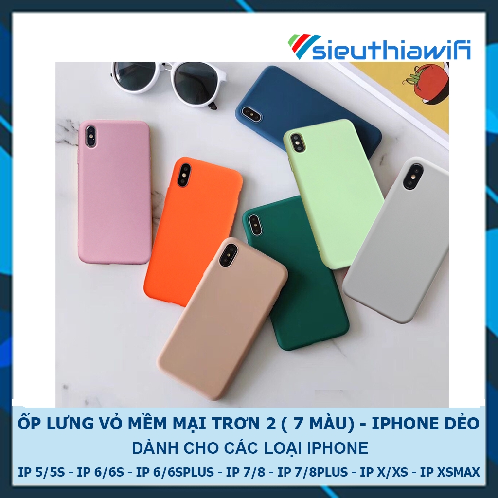 Ốp lưng iphone mềm mại 5/5s/6/6plus/6s/6splus/7/7plus/8/8plus/x/xr/xs/11/12/pro/max/plus/promax - Awifi Case