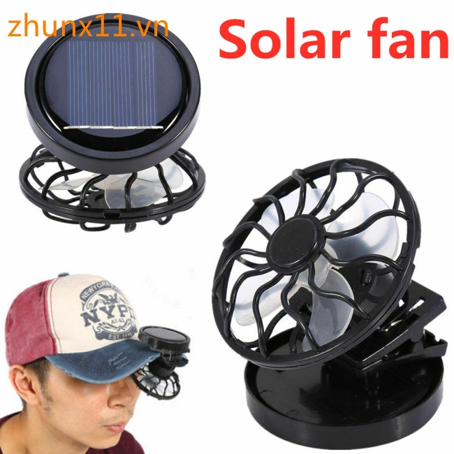 Clip-on Hat Mini Clip Solar Sun Energy Power Panel Cell Cooling Fan Cooler Giá chỉ 58.799₫